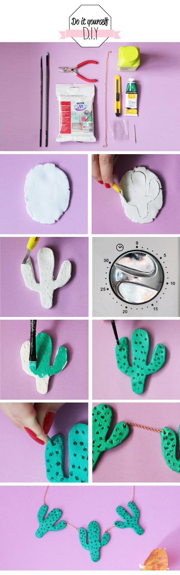 diy collier cactus