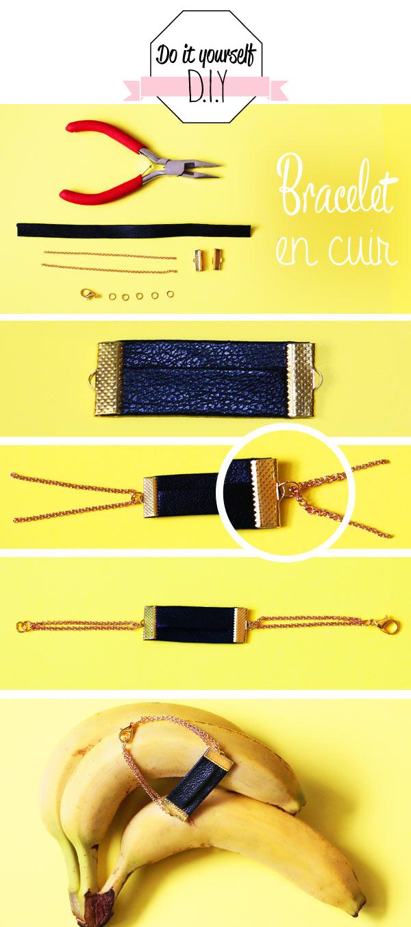 diy bracelet cuir