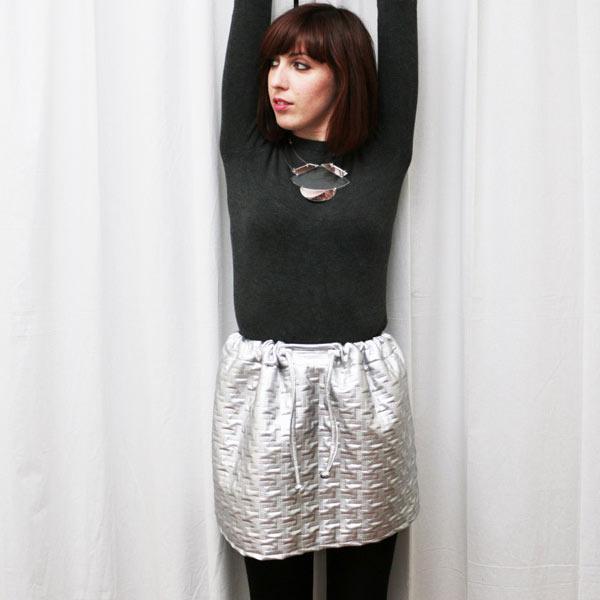 DIY jupe argenté
