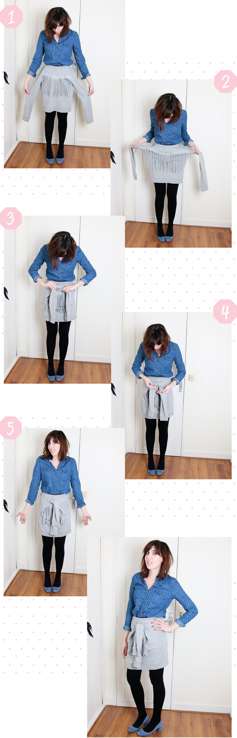 diy jupe sweat