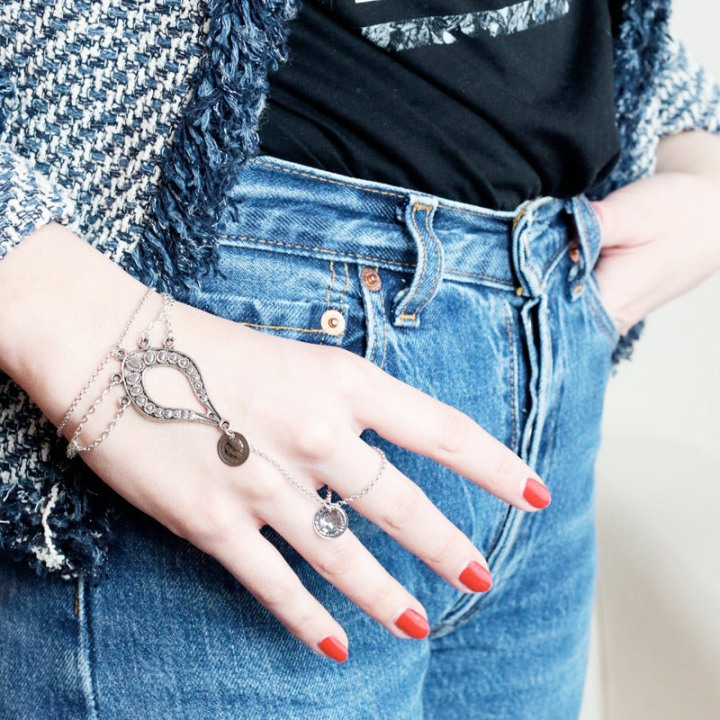 DIY bague bracelet rock boho