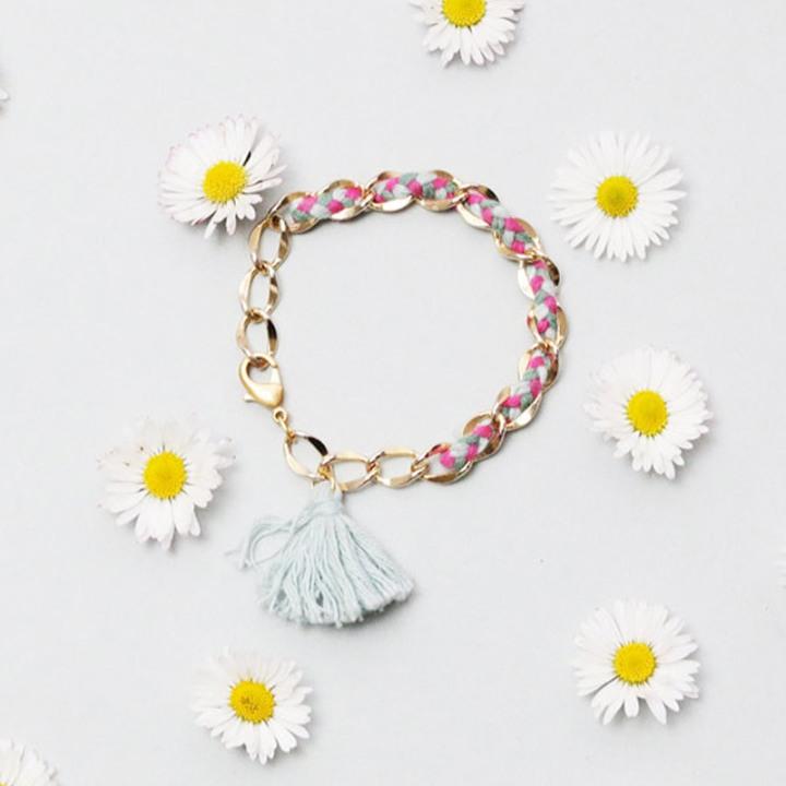 Bracelet chaine ettresse
