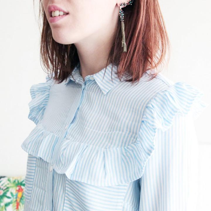 Transformer une chemise en chemise àvolant