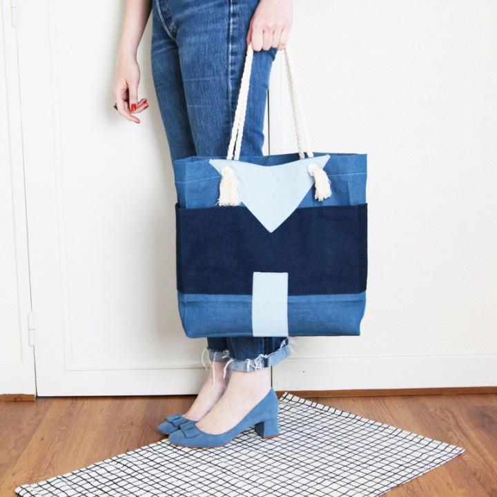 DIY sac denimpatchwork