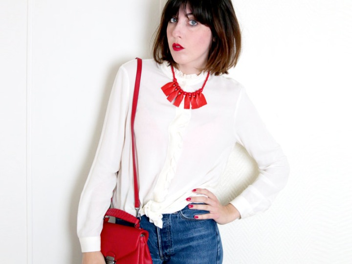 diy mode : un collier rouge graphique !