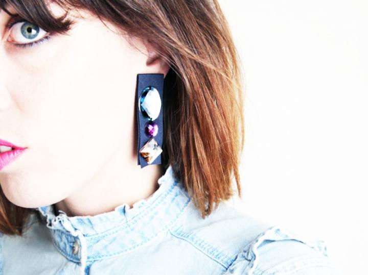 DIY mode :  des boucles d'oreilles de pierres et degalons