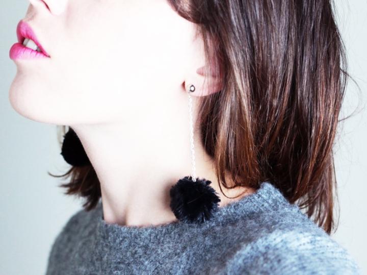 DIY Boucles d'oreilles enfourrure