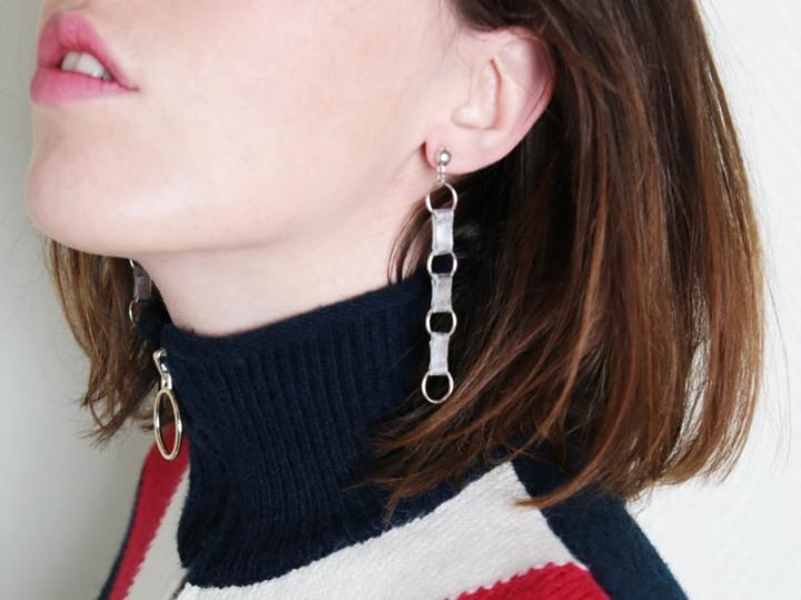 Boucles d'oreilles maillonsdesign