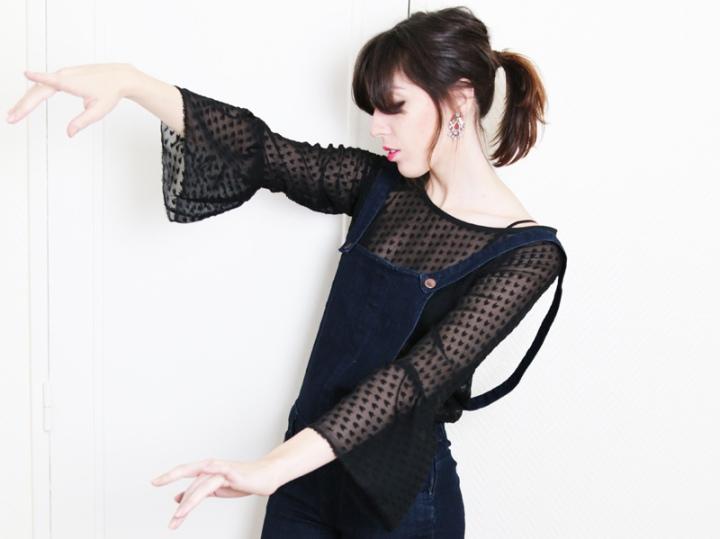 DIY Craftine box décembre : une blouse à volants en plumetis àcoeurs