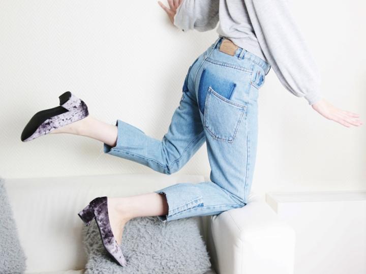 DIY mode : Un jeans à volantdéstructuré