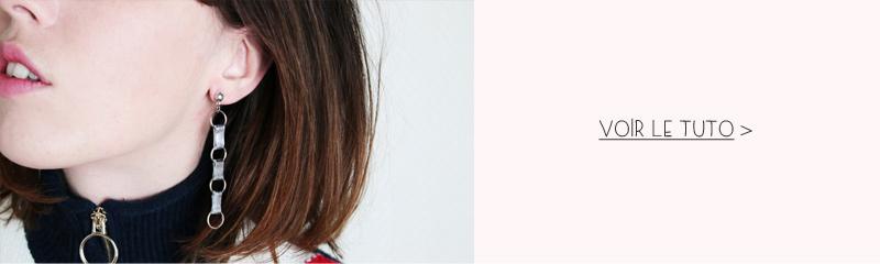 Tutoriel boucles d'oreilles chaine design
