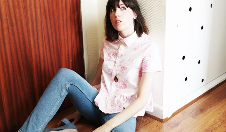 Couture Mode, une chemise Maeva en marbrérose