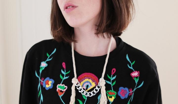 DIY bijoux : Un collier de chaine et decorde