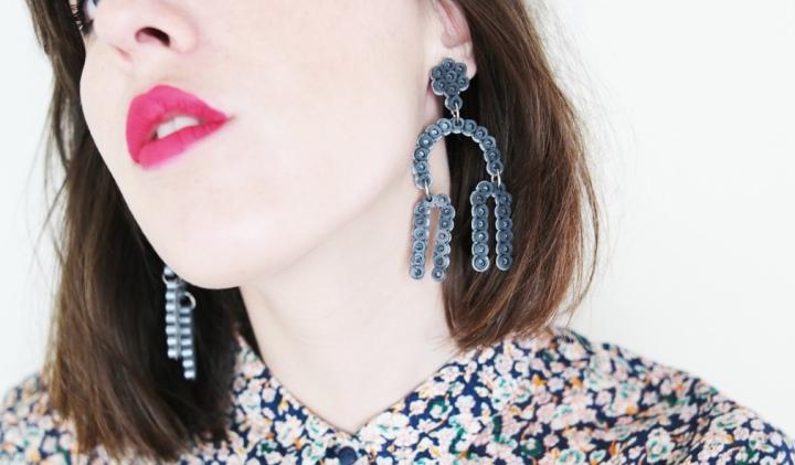 DIY : Des boucles d'oreilles style mobile en perles Hama#tuto2