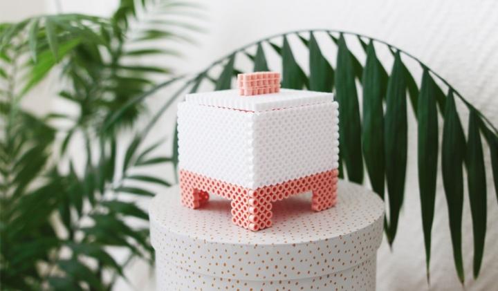 DIY déco : Une boite color block en perles Hama!