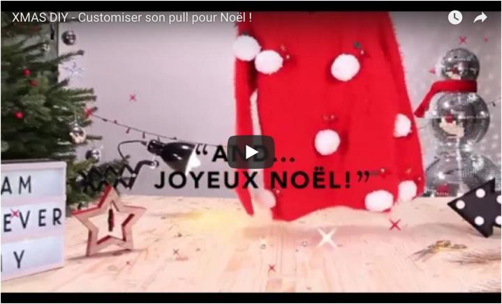 Vidéos DIY :  Un Pull de Noël Etam by Unventdemode!
