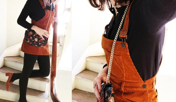 #Ootd – Une robe en velours pour un look rétrochic