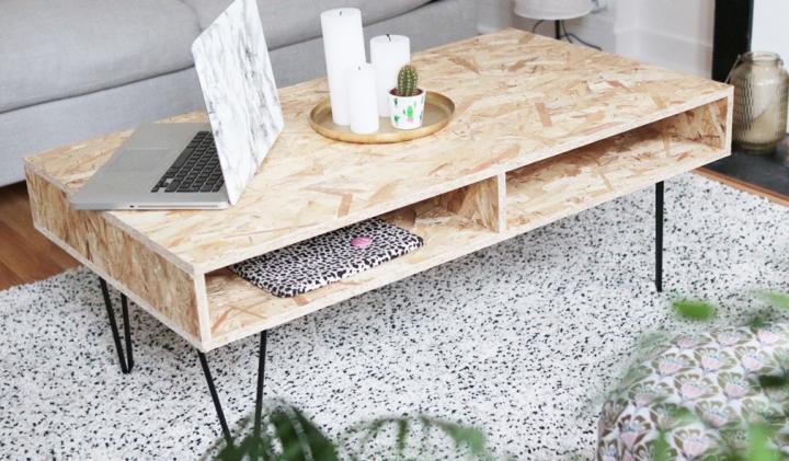 Réaliser une table basse en boisOSB