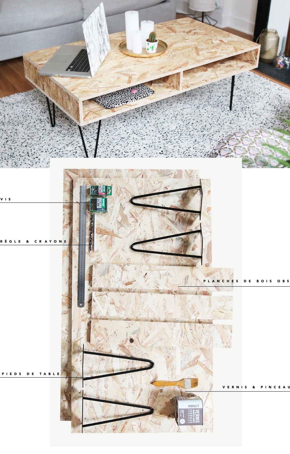 Diy Deco Realiser Une Table Basse Design En Bois Osb