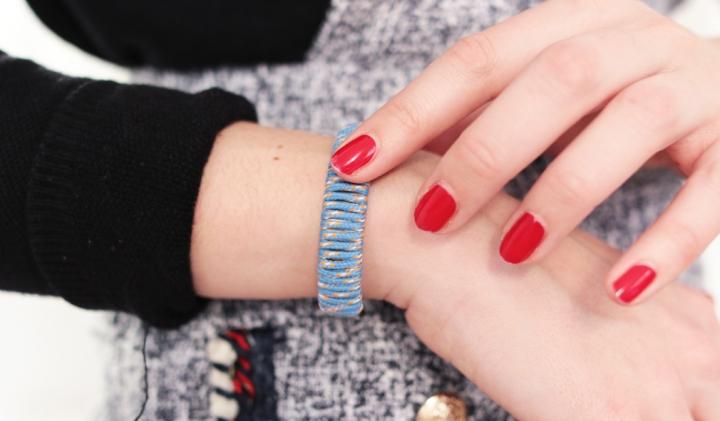 DIY : un bracelet Jonc cordon desurvie