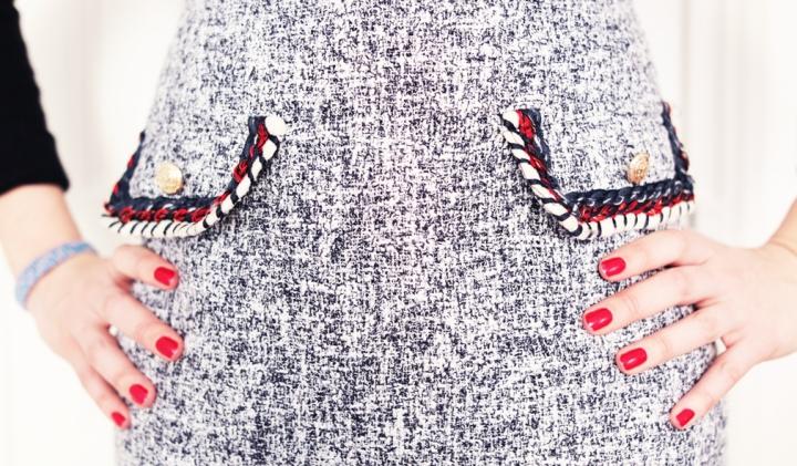 #OOTD – Une robe en tweed pour un look chic etrock